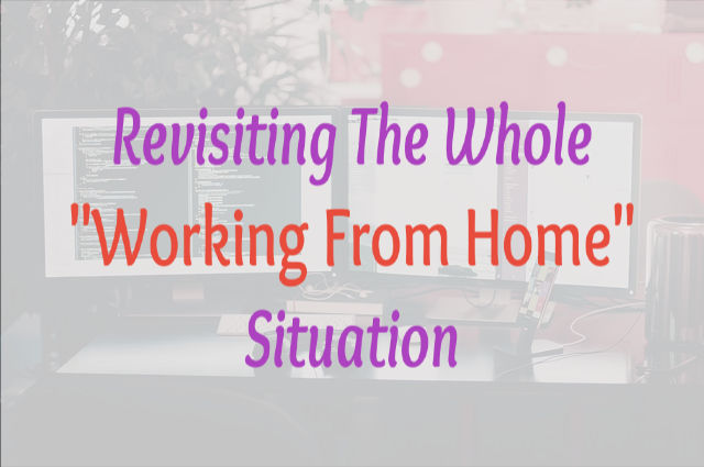 "Revisiting The Whole ""Working From Home"" Situation"